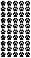 Pfoten, Cat, Dog, Hundepfoten, Katzenpfoten Aufkleber Sticker 50 Stück in 2X2cm!