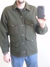 Vintage C.C. Filson cruiser jacket heavy wool coat green color