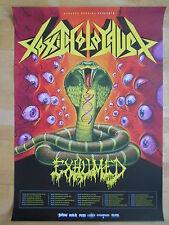 TOXIC HOLOCAUST-EXHUMED 2013 TOUR  -  orig.Concert-Konzert-Poster-Plakat NEU