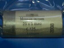 Rouleau 25 pièces de 5 euro Argent La Semeuse 2008 Monnaie de Paris ~ sous vide