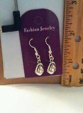 Handmade Silver 3D Cowboy Hat Dangle Earrings - US Seller - Free Shipping