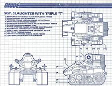 G.I. JOE Series 5 Vintage Blueprints Instructions SGT SLAUGHTER TRIPLE T