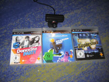 PS3 3 Spiele + PlayStation 3 Eye Camera DanceSTar TV Superstars usw Spielepaket