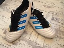 Rare White Adidas Predator Mundial Nova Football Boots Uk Size 10