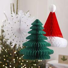 Ginger RAY NATALE A NIDO D'APE Set di 3 Albero Natale-Fiocco di Neve-Cappello Natalizio