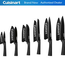 Cuisinart C55-12PMB 12 Piece Color 6 Knife Set with 6 Blade Guards Black