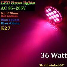 36W LED 4 Band Full Spectrum Pflanzen Lampe Licht Grow E27 Growlight PAR38 12x3W