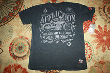 AFFLICTION EXHAUST SHIRT XL BLACK PREMIUM AMERICAN CUSTOMS NWT HOT DEAL!