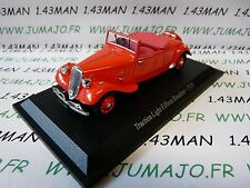 TRA30 voiture 1/43 atlas traction NOREV :  traction Light Fifteen Roadster 1938