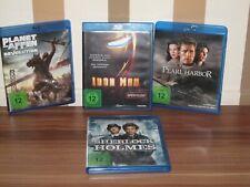 4er Set DVD Blue Ray 12 J. Planet d. Affen Sherlock Holmes Iron Man Pearl Harbor