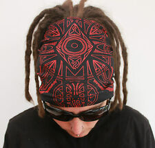 Red & Black Dreadlock Headband/dread sock/wrap - Lightweight, soft, comfortable