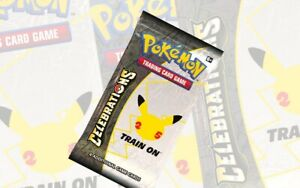 NEW! Celebrations Booster Pack + 1 ASSORTED Ultra Rare NM/M POKEMON. GREAT VALUE