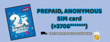PILDYK TELE2 Sim Card | Prepaid, Anonymous Activation | Replenishable