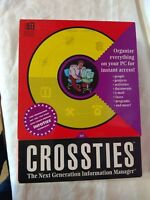 CROSSTIES VTG Boxed Utility Windows 3.1 Organizer Info Manager 3.5 Disk Software