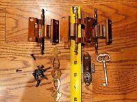 Howard Miller Ridgeway Sligh Grandfather Clock Complete Door Set 3 Hinges Key