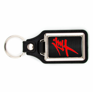 SUZUKI HAYABUSA 1300 KEYCHAIN WITH HONEYCOMB BACKGROUND GSXR KEY CHAIN RED KONJI