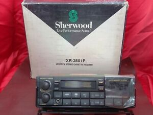 BOXED Sherwood XR-2501P Vintage 90s Cassette Car Stereo With Bluetooth Upgrade