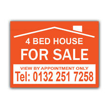 HOUSE FOR SALE Correx Sign Boards Estate Agent Property Signs X 2 (CORCP00003)