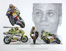 Valentino Rossi Moto impresión, MotoGP, Fab eBay Oferta Talle:38 Cm X 55 Cm Raro