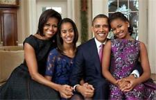Barack and Michelle Obama Family  Poster Print