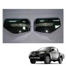 06 09 - 14 Wing Side Mirror Cover Chrome + LED 2 Pc For Mitsubishi L200 Triton