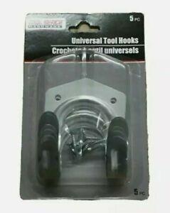 5 PC Universal Metal Tool Hook Hanger W/ Screws Tool Bench Hardwares NEW