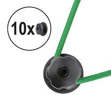 10x Planenhaken rund Kunststoff Ø 25 mm schwarz 6mm Bohrung