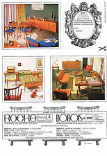 PUBLICITE ADVERTISING  1964    ROCHE -BOBOIS   meubles