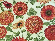 Henry Glass Fabric BOUNTIFUL Zinnias/Sunflowers - 5/8 yard