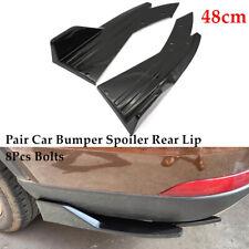 2×Universal Glossy Black Car Side Skirt Rocker Splitters Diffuser Winglet Wind