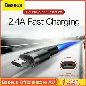 Baseus Strong Braided Micro USB Fast Data Charger Cable Cord For Android Samsung