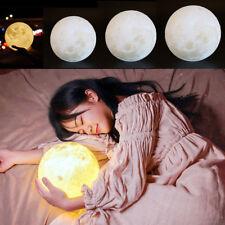 3D Printing Magical LED Luna Night Moon Lamp Light Desk USB Charging Xmas Gift