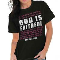 God Is Faithful Christian Religious Jesus T-Shirts T Shirts Tees For Womens