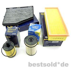 Filterpaket Luftfilter Ölfilter Krafftstoff Innen Pollenfilter Audi A3 2,0 TDI