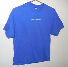 APPLE STORE EMPLOYEE BLUE SHORT SLEEVE MEDIUM T-SHIRT HELLO I'M A MAC