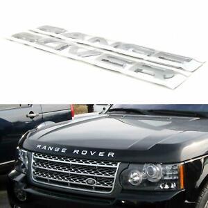 Range Rover Cabina Trasero Emblema De Aluminio Brillante Pegatina Insignia