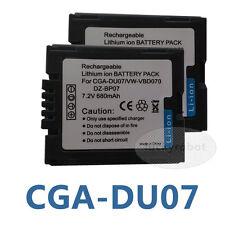 2pcs BATTERIA dz-bp07pw PER HITACHI dz-hs300a DZ-GX5020A DVD DZ-BP14S Camcorder