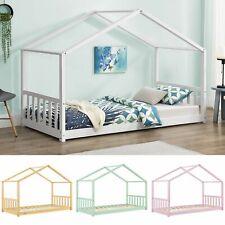 Kinderbett Holz Bett Haus Bettgestell Skandinavisches Design Lattenrost ArtLife®