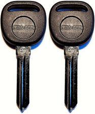 2 Pack - UNCUT GMC TRANSPONDER CHIP IGNITION LOGO KEYS B111-PT 692932 15824470