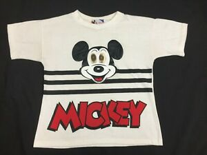 RARE VTG 1980s Mickey Mouse Holographic Eyes T-Shirt Youth 10/12 *USA MADE