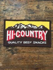 "Vtg Hi-Country Beef Snacks Sew On Embroidered Patch Hi Country 4 1/2"" Montana MT"
