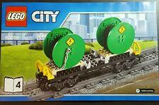 LEGO CITY Mulinello a Tamburo Cavo Vagone vagoni ferroviari-SPLIT dal Set 60052-SENZA SCATOLA