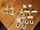 Lot Of 17 Vintage DIE CUT Halloween Dennison ? Witches Black Cats Moon Owls RARE