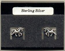 Unicorn Sterling Silver 925 Studs Earrings Carded