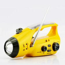 Solar Power AM FM Dynamo Hand Cranked Radio Emergency Flashlight Phone Charger