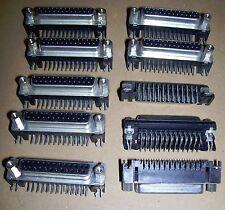 NUOVO 10 x D CONNETTORE 25 VIE SALDATO presa d-sub PCB DB25 Femmina Atari Amiga