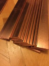 ".999 Copper Bar Bullion 1/8"" x 1"" x 12"" INVESTMENT * PAPER WEIGHT Industrial Cut"