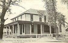 c1910 Postcard; Garden City Hospital, Garden City KS Dr Helwig Finney Co