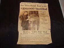 """Vintage Heddon """"LIFE-PAL"""" Steel Rod Insert Catalog James Heddon's Sons, 7"""" x 10"""""""