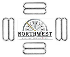 50 Nw Contract Sewing 1/2 Inch Sleek Metal Round Triglide Slides Nw8532